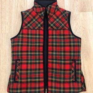 J. Crew Tartan Mountain Puffer Vest